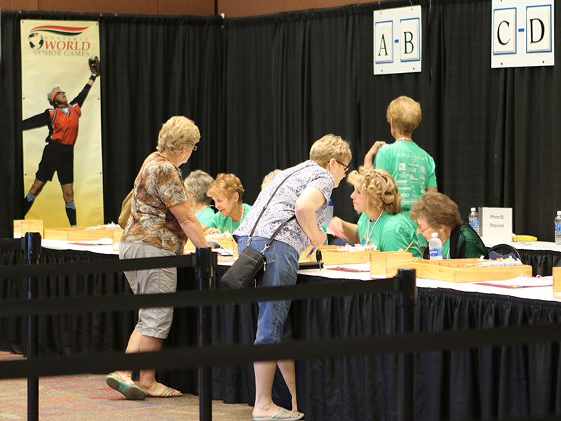 Check-In at the Huntsman World Senior Games