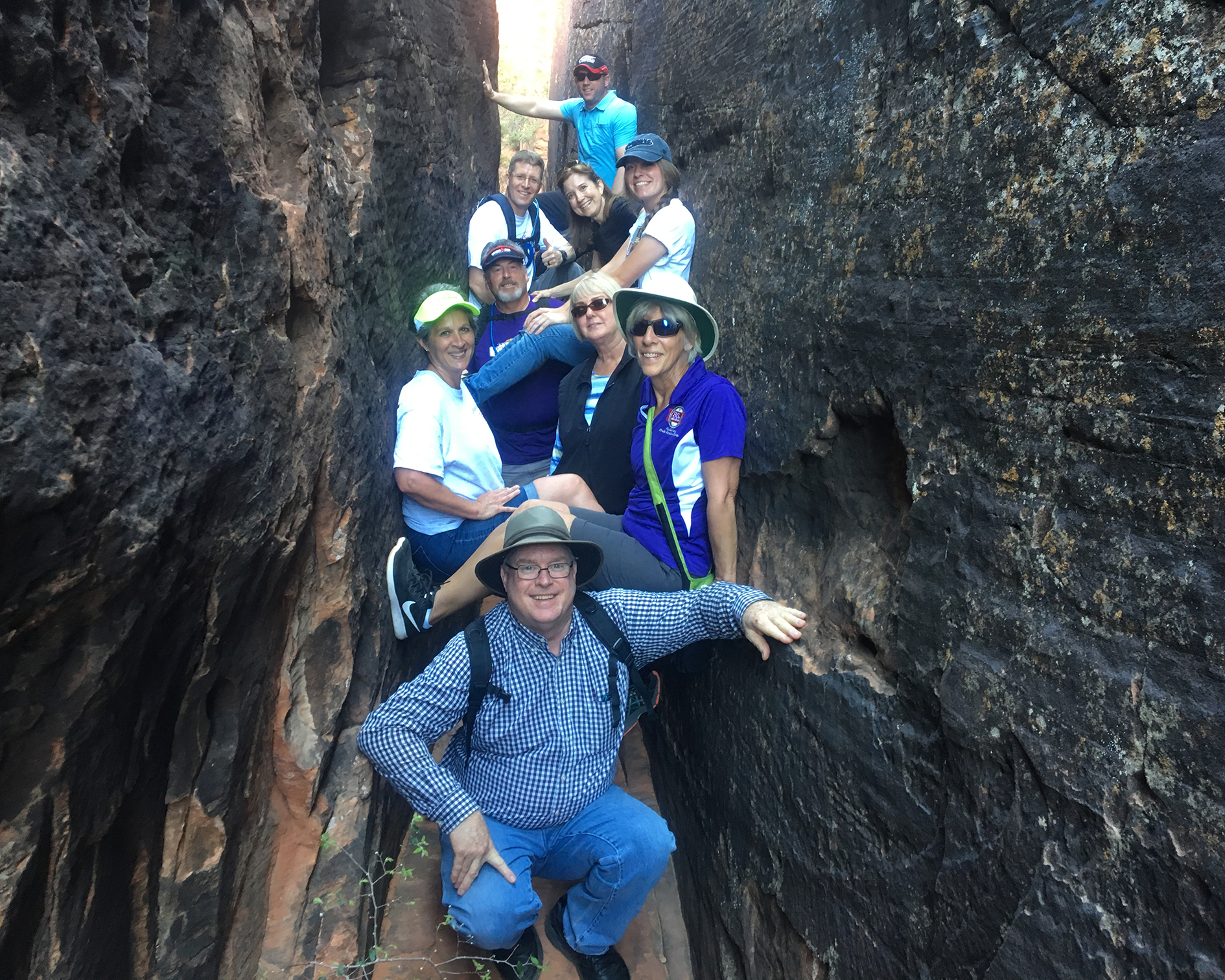 Staff in a Slot Canyon